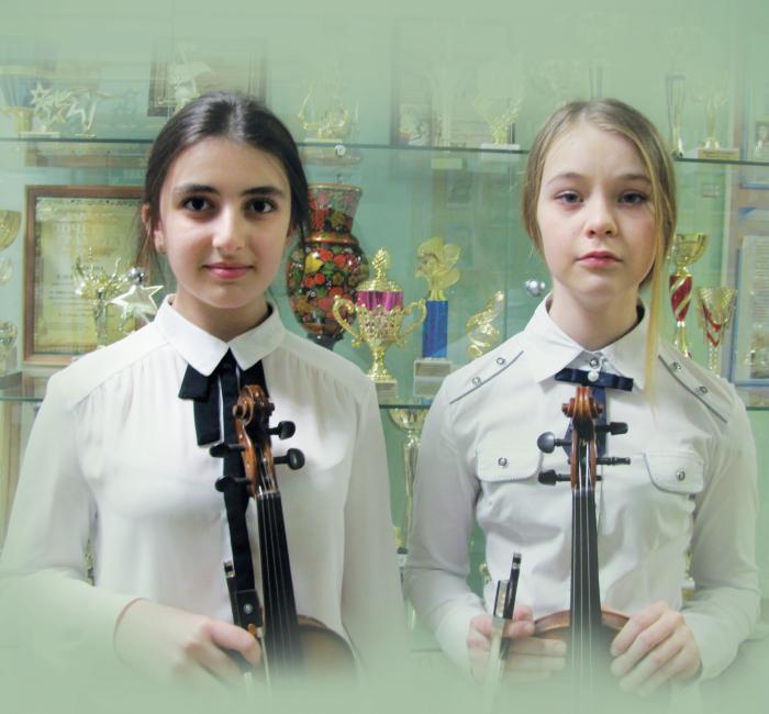 Дуэт скрипачей: Земляницына Анна Юрьевна, Хитарян Тереза Паатовна